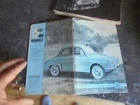 Ancien Manuel Conduite Entretien N.E 830 Renault Dauphine + plan de graissage