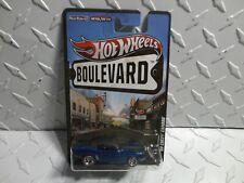 Hot Wheels Boulevard Blue '69 Chevy Camaro w/Real Rider's