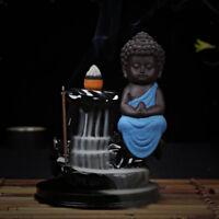 Backflow Incense Burner Buddha Stick Holder Buddhist Censer Blue