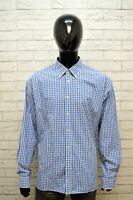 Camicia Uomo TOMMY HILFIGER Taglia Forte Maglia Polo Quadri Cotone Big Shirt