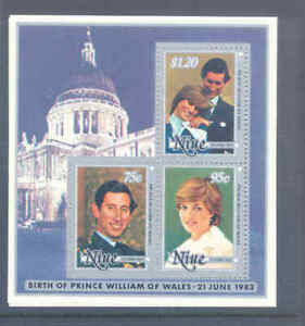 NIUE 1982 WEDDING M/S VERY FINE MNH    105C