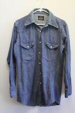 b237c22141 New ListingVintage Blue Bell Maverick Denim Pearl Snap Western Shirt USA  Fits M