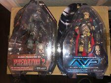 Neca Alien v Predator & Predator 2 action figures / Elder Predator & and V2