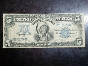 Series of 1899 $5 One Papa Large Size Silver Certificate