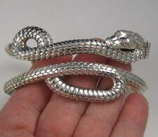 Gorgeous Massive THEO FENNELL Alias Snake Sterling Silver 138 Gram Cuff Bracelet