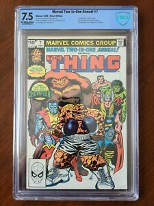 MARVEL TWO-IN-ONE ANNUAL #7 CBCS 7.5 1st CHAMPION INFINITY POWER GEM 1982