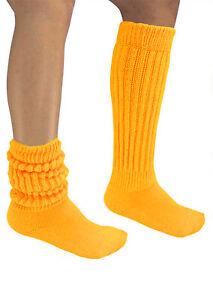 Slouch Socks Warm Scrunchie Knee High Workout Long Flaw Heavy Hooters Uniform