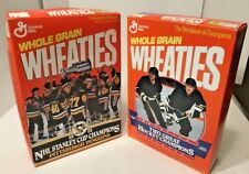 Set of 2 Wheaties Pgh Penguins Champions NHL FULL Boxes '92 Cup / Jagr Lemieux