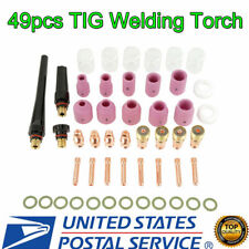 49pcs/set Tig Welding Torch Stubby Gas Lens Pyrex Glass Cup Kit For Wp-17/18/26