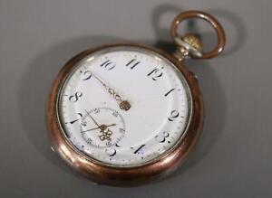 Kramer & Moser 800 Silber Taschenuhr / Uhr / m. Aufzug / Vintage #J