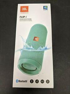 Brand New Sealed JBL FLIP 4 Portable Bluetooth Speaker IPX7 Waterproof - Teal