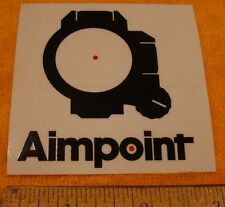 Aimpoint Optics Square. Firearms Decal Sticker