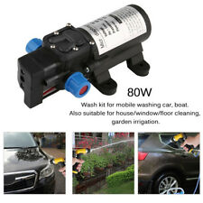 Portable 12V 80W 130Psi Car Clean Electric Washer Wash Water Pump High Pressure