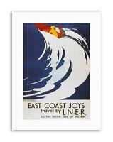 LNER RAIL SURF WAVE UK Vintage Travel Retro Canvas art Prints