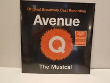 Vinyl LP Sealed! AVENUE Q The Musical Original Broadway Cast Recording 2x Orange