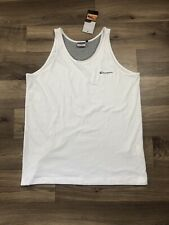 Champion Vest White Spell Out Mens Xxl Bnwt