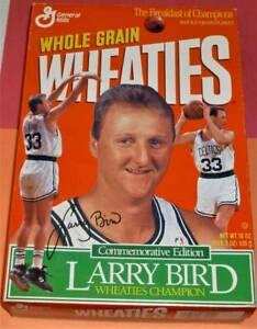 1993 LARRY BIRD Wheaties Champion Commemorative Ed. Boston Celtics French Lick