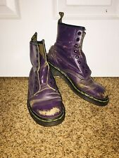 Vintage 90' Dr. Martens Womens 6 Purple Leather Classic 8-Eye. #A19