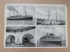 Vintage c1960s Elbtunnel Hamburg - Steinwarder Real Photo Postcard