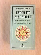TAROT DIVINATOIRE DE MARSEILLE GEORGES CONVER / ANCIENNE EDITION / COMME NEUF