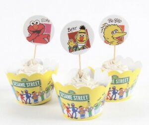 12x Sesame Street Cupcake Topper + 12 x Wrapper