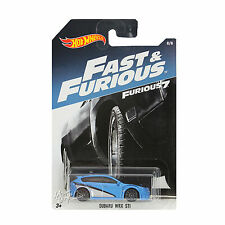 NEW 2016 Hot Wheels 1:64 Die Cast Car Fast & Furious Blue Subaru WRX STI 8/8