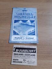 More details for 1955  ticket & programme scotland v england @ sheff wed hillsborough 26th oct.