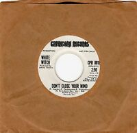 "WHITE WITCH>""DON'T CLOSE YOUR MIND""/""YOU'RE THE ONE"">PROMO 7"" VINYL 45>1973>EX+"