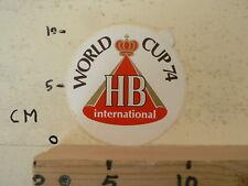 STICKER,DECAL WORLD CUP 74 HB INTERNATIONAL VOETBAL SOCCER FUSSBAL FOOTBALL