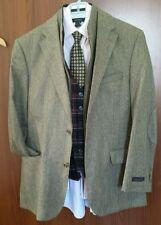 Jos. A Banks Tan Wool/Cashmere 2-btn Blazer Sports Coat /w breast plate 38 R