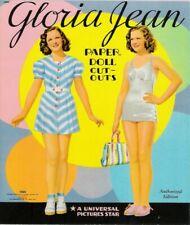 Vintage Uncut 1941 Gloria Jean Paper Dolls~#1 Reproduction~8 Pages Clothes~Rare!