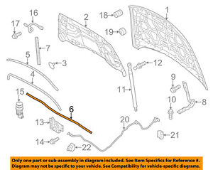 FORD OEM Hood-Rear Weatherstrip Seal 8A5Z16740A
