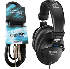 Roland RH-200 Monitor Headphones+Extension Cable