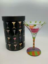Lolita Wedding Martini Glass with Recipe on Bottom Rim