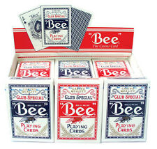 1 Deck Bee Standard Poker Playing Cards Red Brand New Deck Casino Quality