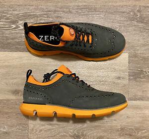 Cole Haan Zerogrand Nubuck Orange Wingtip Oxford C31891 Men's Size 8M