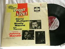 GERRY MULLIGAN I Want To Live! Shelly Manne Art Farmer Johnny Mandel UK dg LP