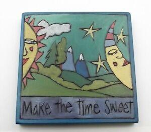 Make the Time Sweet Original Wall Art Plaque Signed Sticks Seattle WA Sun Moon