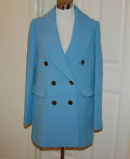 JCrew $350 Double-Breasted Coat in Double-Cloth Wool 4 Cornflower Blue F3915