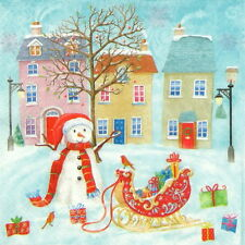4x Paper Napkins for Decoupage Decopatch Craft Christmas Town