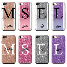 PERSONALISED CUSTOM HANDWRITTEN GLITTER MARBLE PHONE CASE FOR APPLE IPHONE COVER