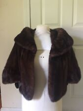 Vintage Mink Fur Stole ( Dark Brow Color )
