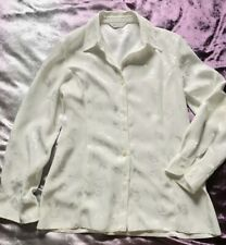 Ladies Woman's Clothing Bonmarche Sleeve Floral White Blouse Size UK 12