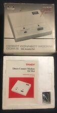 Vintage NEW in Box Tandy Direct Connect Modem DCM-6 w/acoustic port Cat 26-1393