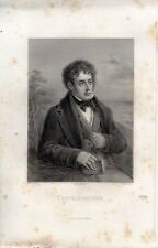ANTIQUE ENGRAVING PORTRAIT CHATEAUBRIAND FRENCH WRITER