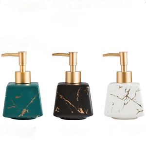 1X Nordic Lotion Bottle Ceramics Marbling Soap Dispenser Sanitizer Holder Home
