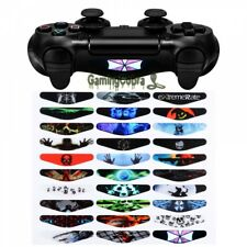 30 SET Led Light Bar Vinyl Decal Sticker Skin for PS4 Pro Slim Remote Controller