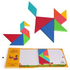 1Set 150 Tangram Puzzles Magnetic Magic Book Kids Child Educational Toys Gifts