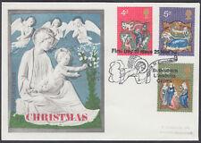 1970 Christmas v.scarce Universal FDC; Bethlehem Llandeillo SHS