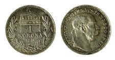 pcc1840_83) HUNGARY Franz Joseph I 1 Korona 1914 AG Toned